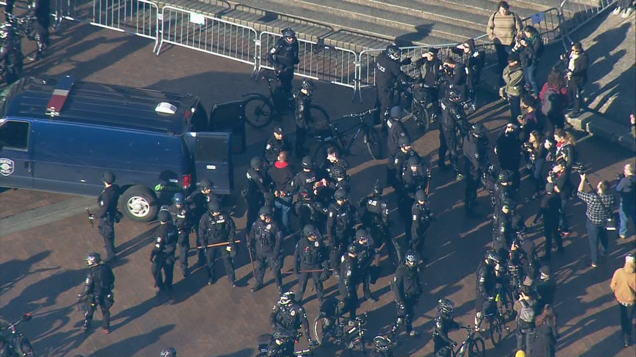 Day of protests at UW (Photo: KOMO News)