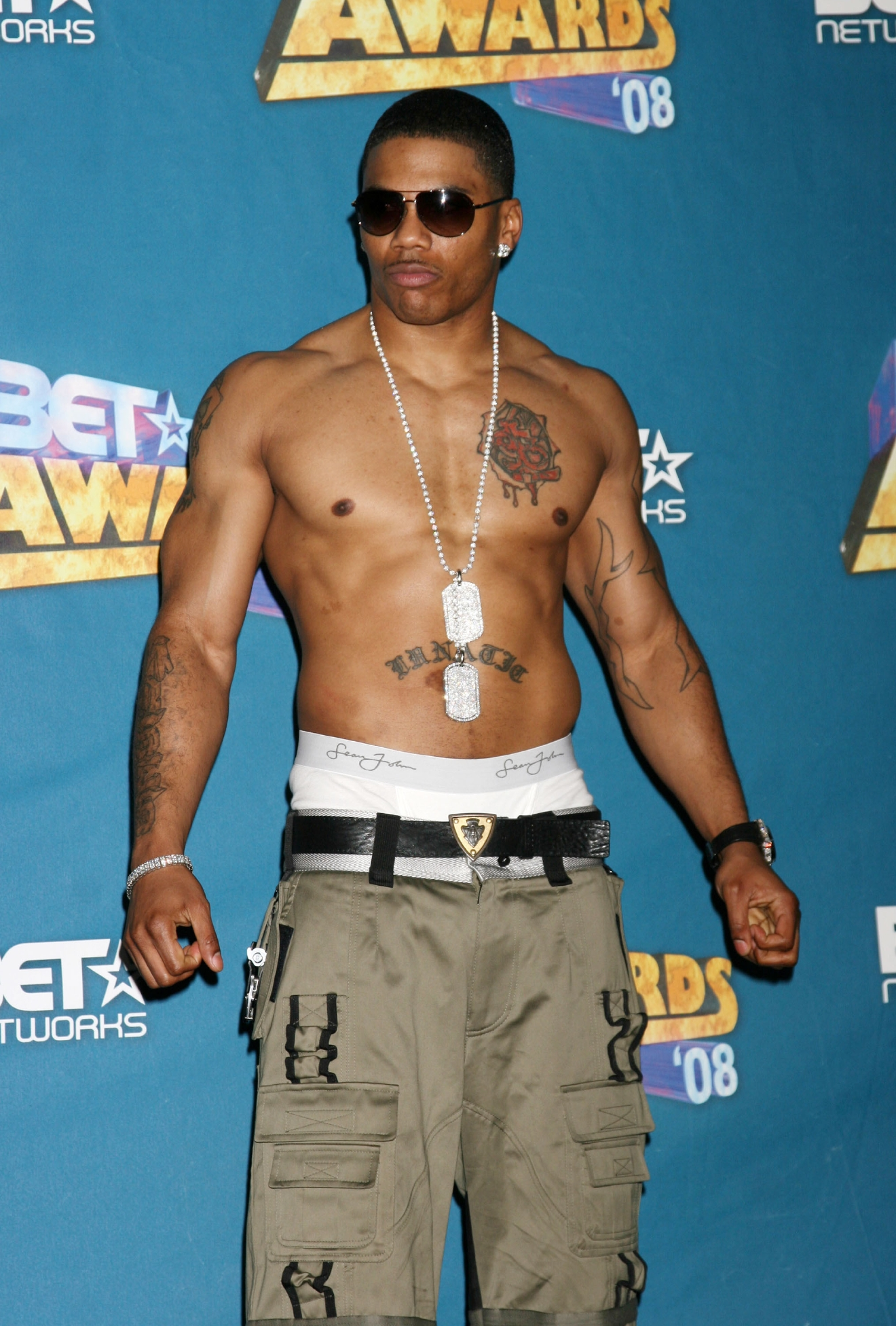 Nelly BET Awards 2008 at the Shrine Auditorium - press room Los Angeles, California - 24.06.08  Featuring: Nelly Where: United States When: 24 Jun 2008 Credit: Nikki Nelson/ WENN