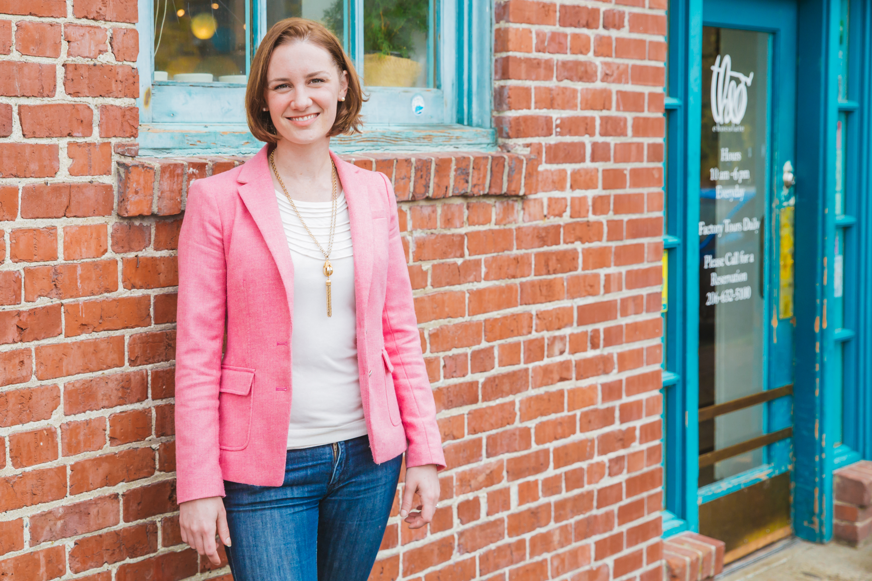 Emily Benson is in charge of social impact and communications at Theo Chocolate in Seattle. (Image: Seattle Refined)