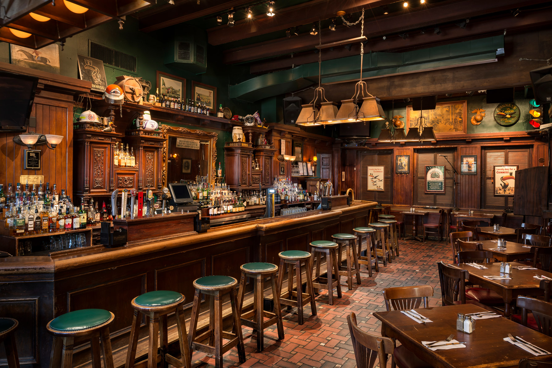 Should you expect to go to a bar named after Ireland's capital and get a thorough introduction to Irish whiskey? Yes, and co-owner Gavin Coleman is at the ready to do it. (Image: Courtesy The Dubliner)