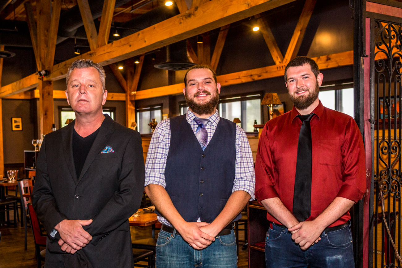 Rick Maupin (beverage director), Devon Blessing (bar manager), and Benjamin Askey (banquet coordinator) / Image: Catherine Viox{ }// Published: 9.5.19