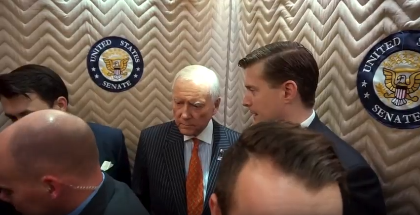 Rob Porter and Orrin Hatch (Photo: KUTV)<p></p>