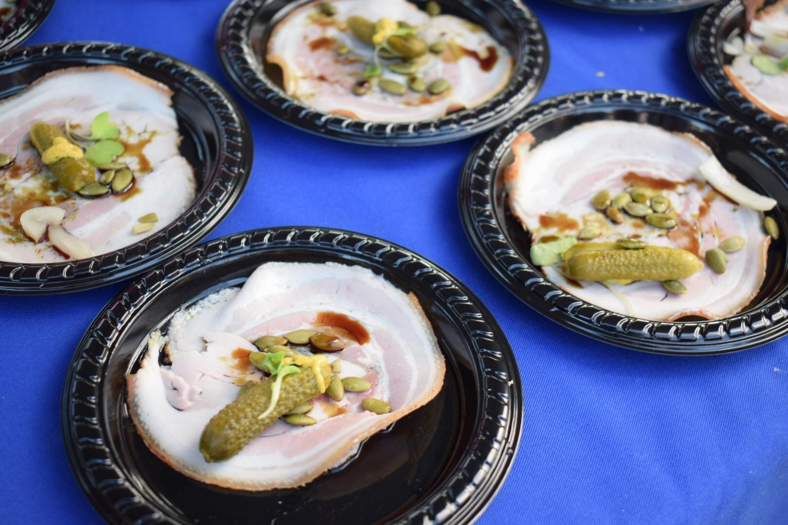 Prochetta wraps by Chef Austin Fausett were one of the many tastes available to sample.{ }(Image: Tim Ebner / DC Refined)