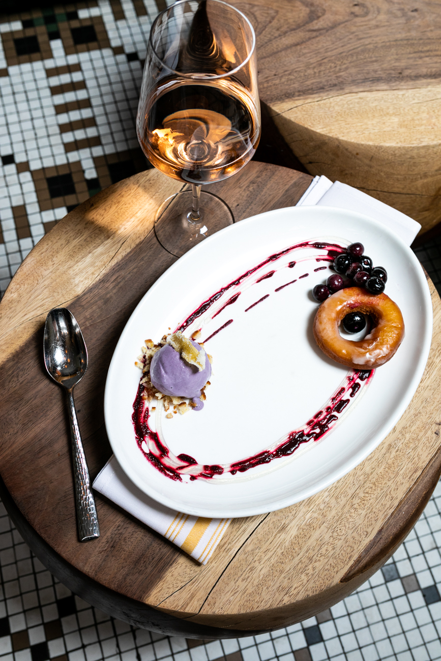 Cake donut: blueberry ice cream, lemon glaze, and macerated blueberries / Image: Amy Elisabeth Spasoff // Published:{ }5.3.19