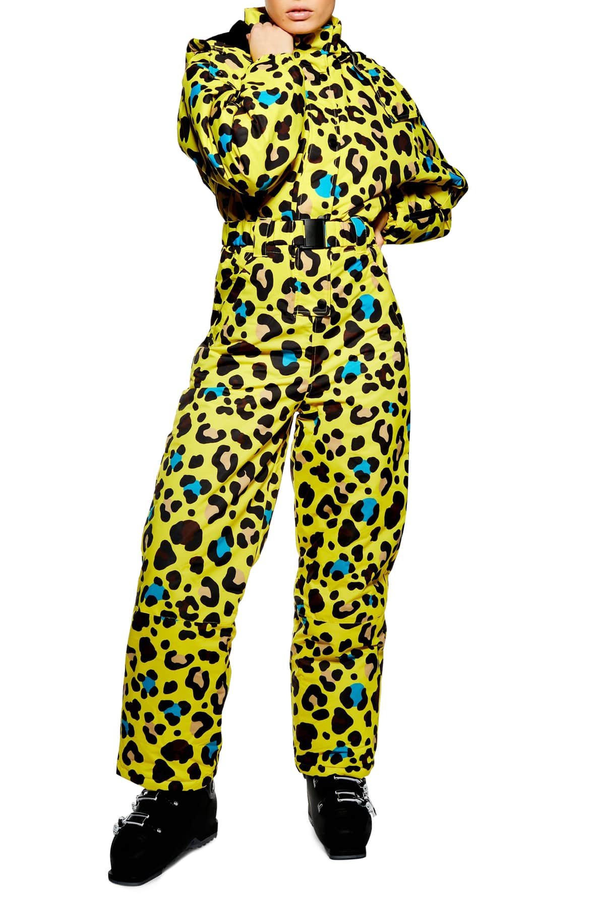 <p>One things for sure, you'll be sure to stand out in this number! Hit the slopes in this breathable, waterproof jumpsuit styled with a detachable hood in a vibrant animal print.{&nbsp;}$330.00 (Image: Nordstrom){&nbsp;}</p><p></p>