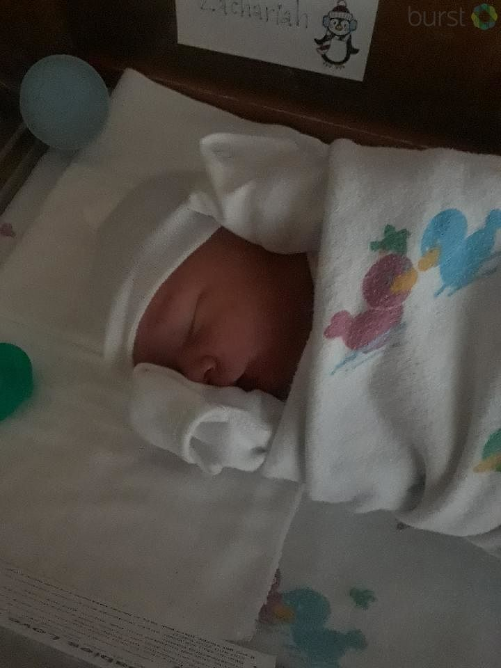Baby Zachariah was born at 3:09 this morning at Genesys in Grand Blanc. (Photo Credit: Jessica Armstrong)