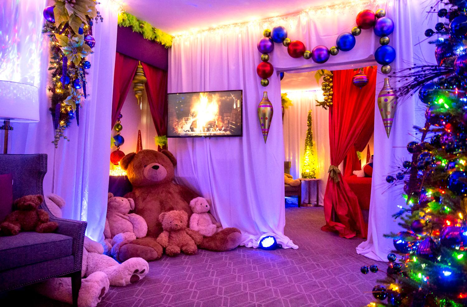 A favorite holiday tradition continues at the Fairmont Olympic Hotel as one of the suites is transformed into a teddy bear wonderland. Designed by local designer Kevin Bradford, the teddy bear suite includes approximately 75 teddy bears big and small for kids and adults to explore and enjoy. The suite is open daily from 10 a.m. to 6 p.m. through Dec. 26 and located on the 2nd floor at the Fairmont Olympic Hotel. Donations are encouraged and proceeds benefit Seattle Children's. (Sy Bean / Seattle Refined)
