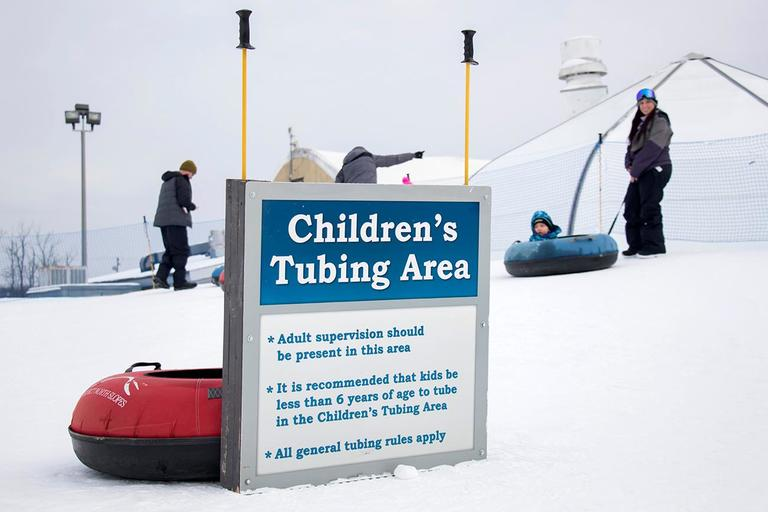A separate, small tubing area is provided for children 3-6 years old. / Image: Allison McAdams // Published: 1.18.18