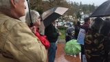 Trump supporters rally at Douglas County Courthouse in Roseburg