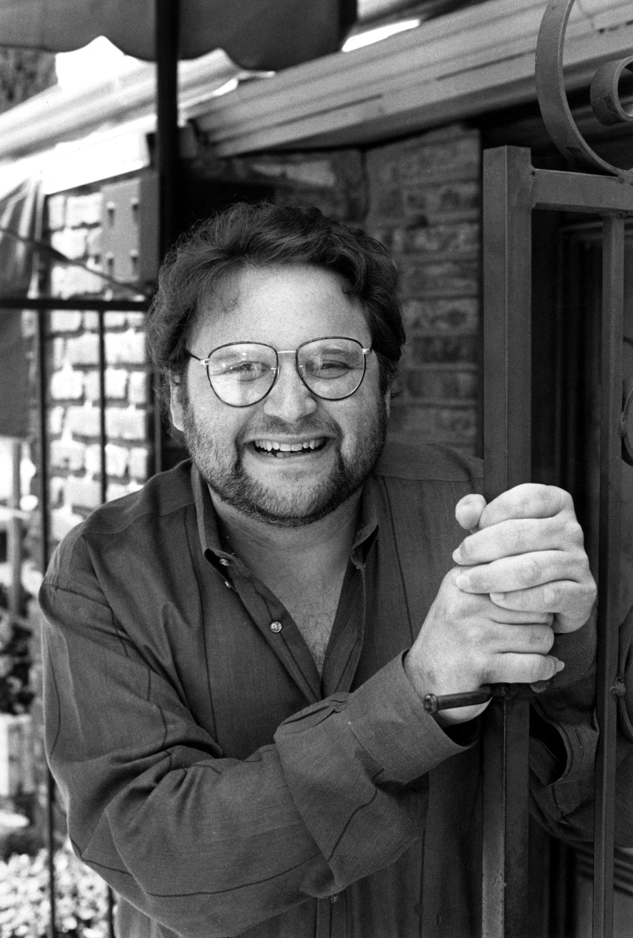 "FILE - In this May 1986 file photo, actor Stephen Furst poses for a photo in Los Angeles. Furst's family says the ""Animal House"" actor has died. (AP Photo/Lennox McLendon, File)"