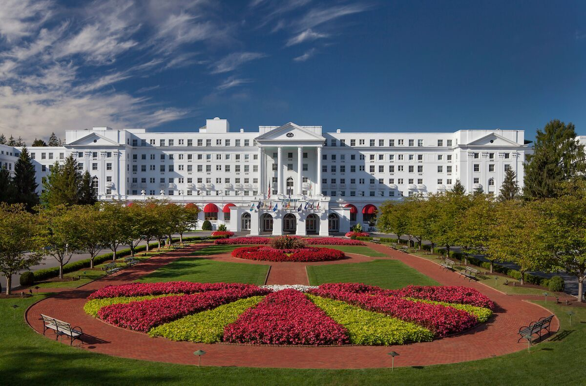 The Greenbrier Resort is located in White Sulphur Springs, West Virginia, and has been visited by 45 U.S. presidents. (Image: Courtesy The Greenbrier)