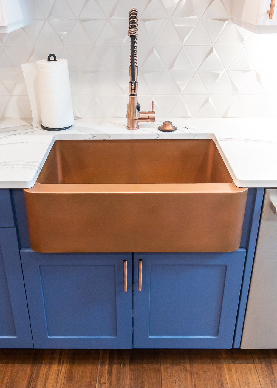 The sink is Signature Hardware Kembla in Antique Copper. / Image: Phil Armstrong, Cincinnati Refined // Published: 6.5.20