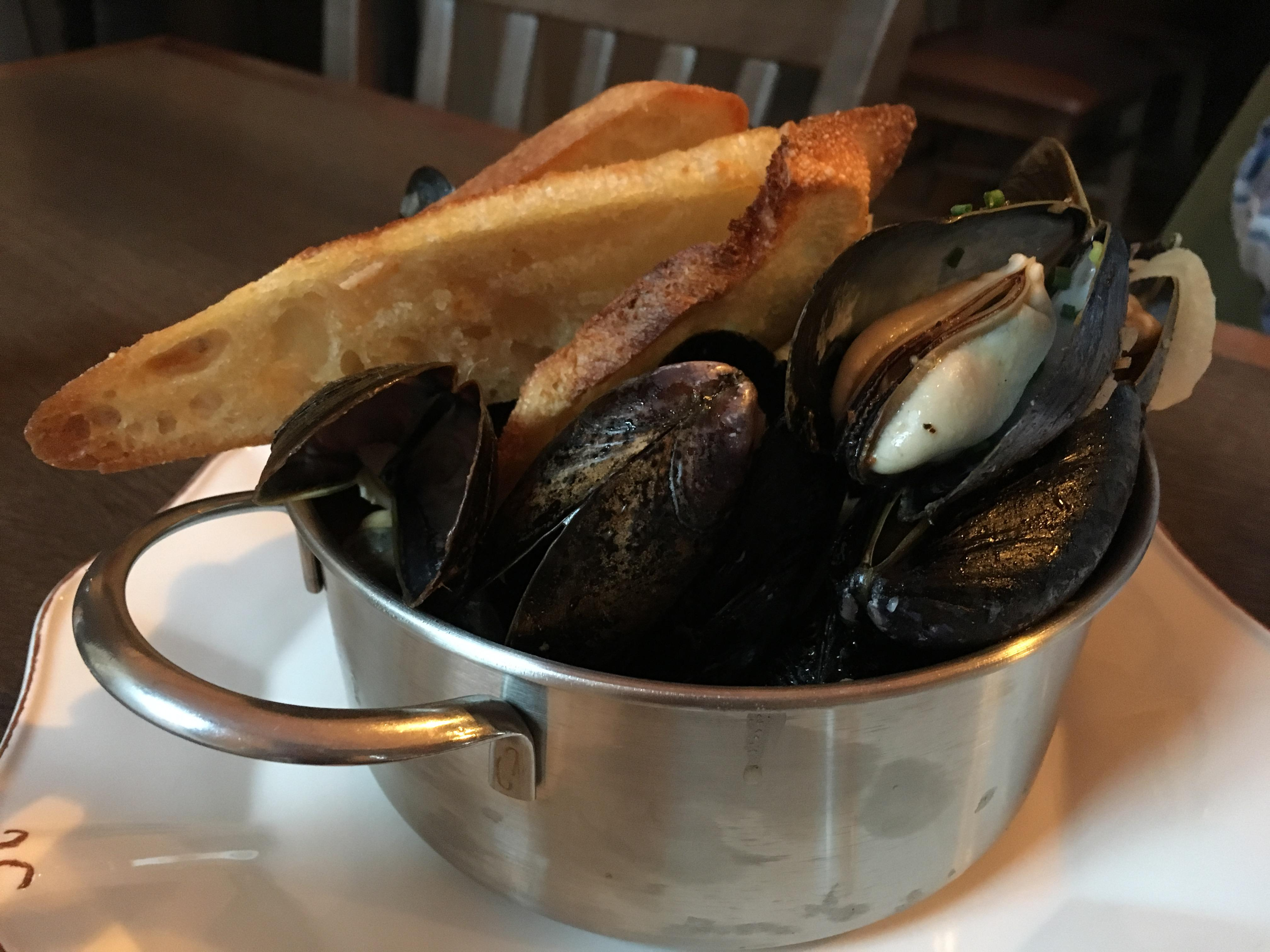 Chorizo and fennel mussels at Delirium Café USA. (Image: Lani Furbank)