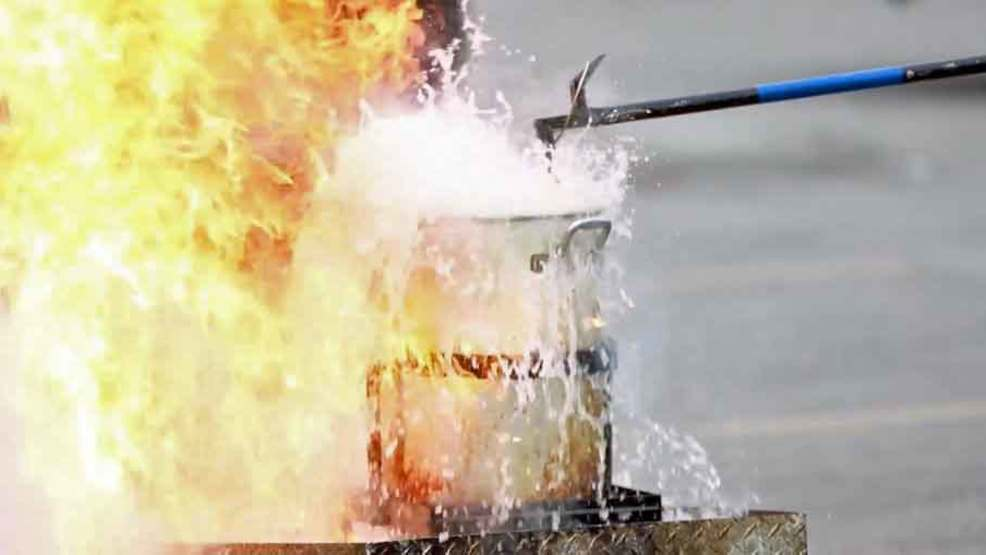 WATCH: AFD demonstrates how NOT to fry a turkey