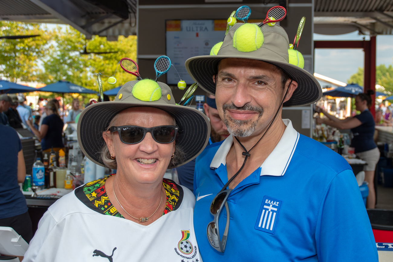 Peter and Mary Ann Emanuel made custom hats just for this event. / Image: Chris Jenco // Published: 8.17.18