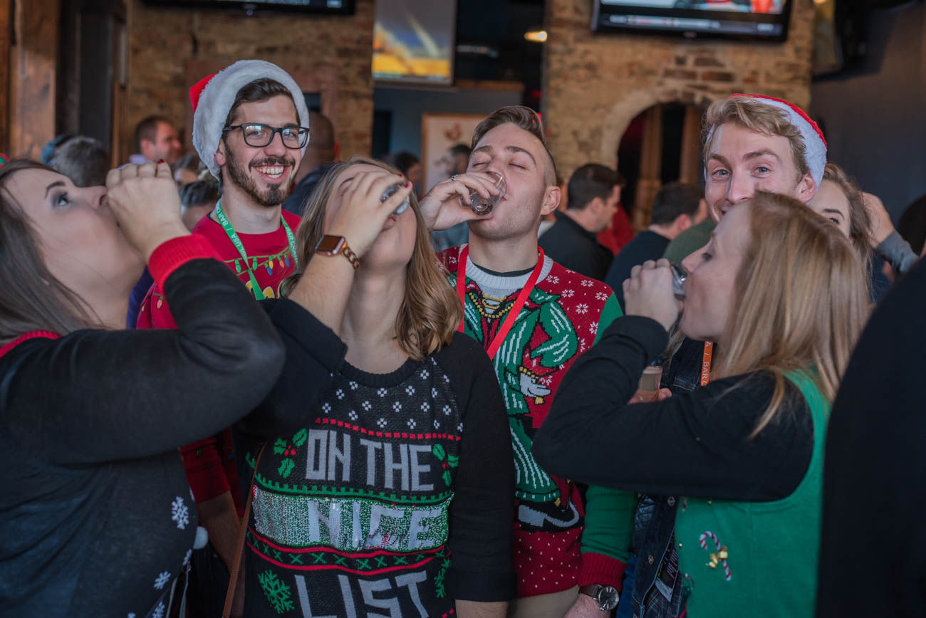 The 2nd annual Ugly Sweater Crawl took place on Saturday, December 2 throughout Downtown and Over-the-Rhine. There were 12 participating bars. / Image: Mike Menke // Published: 12.3.17