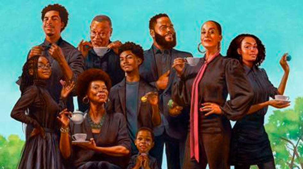 Johnsons are 'sipping tea' for 'black-ish' family portrait