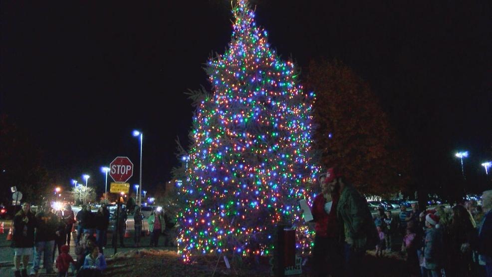 First annual Christmas tree lighting...   WCYB