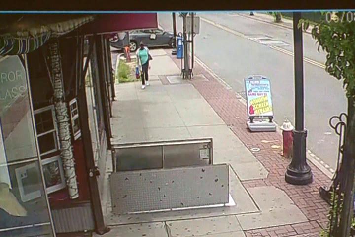 Woman Falls Down Open Cellar Door (Video: WCBS / Acme Windows / CNN  Newsource