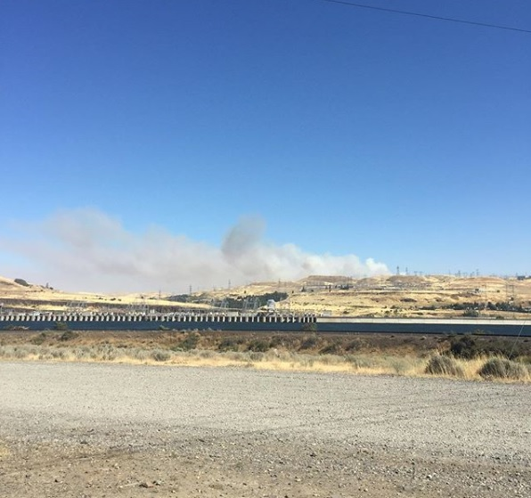 Fire near The Dalles in Wasco County - Image courtesy Henry Stout.jpg